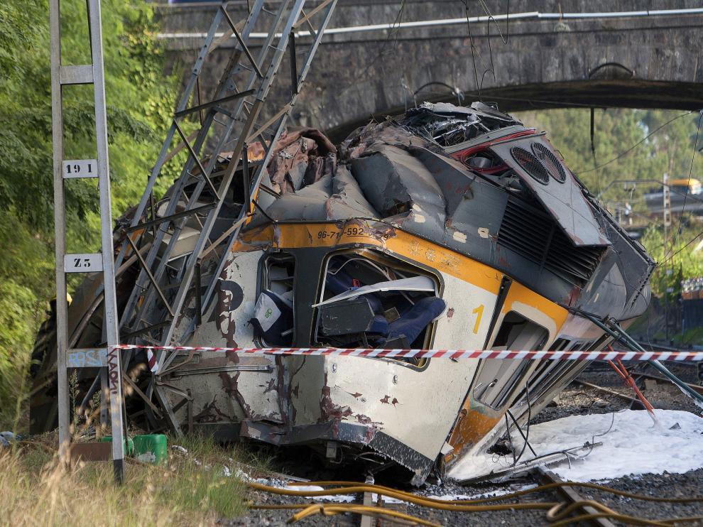 Accidente de tren en Porriño.