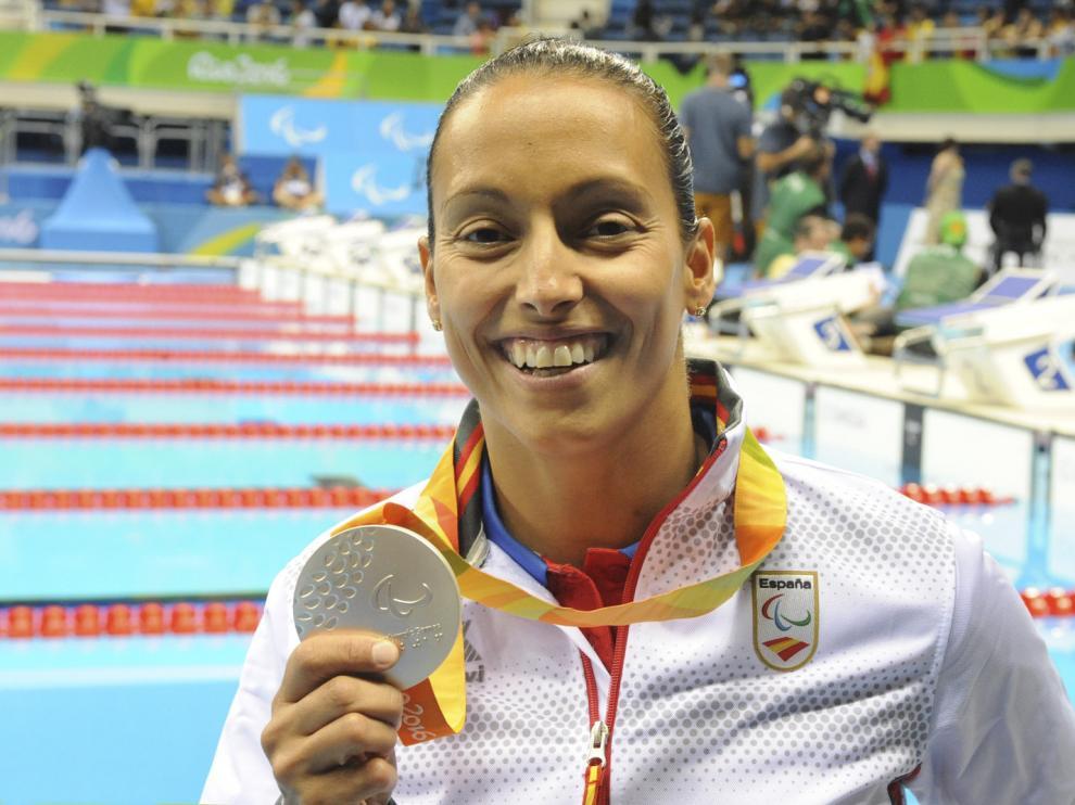 Teresa Perales consiguió alzarse con la medalla de plata en los 200 metros libres.