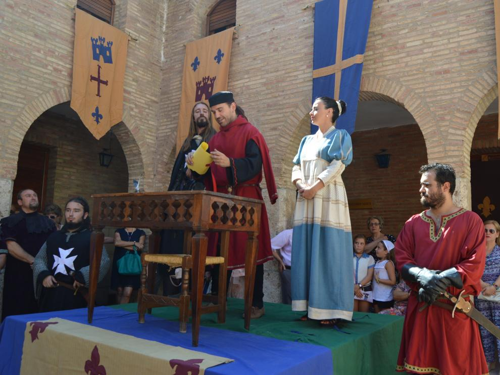 Fuendejalón recrea la donación del municipio a la orden de San Juan
