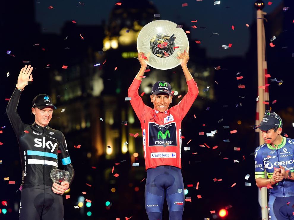 Nairo Quintana celebra en Madrid el triundo