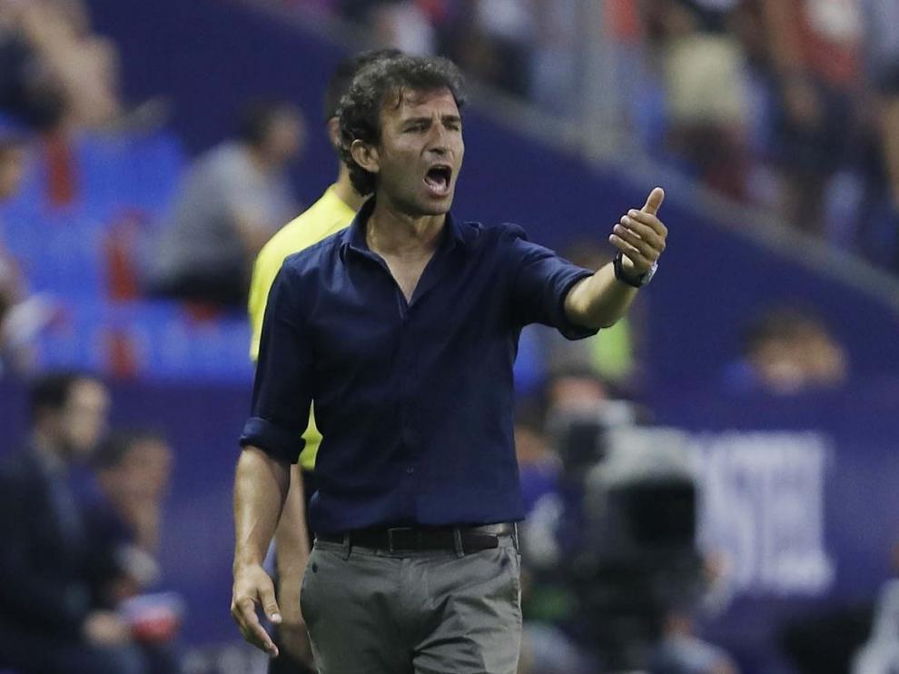 Luis Milla, entrenador del Real Zaragoza.