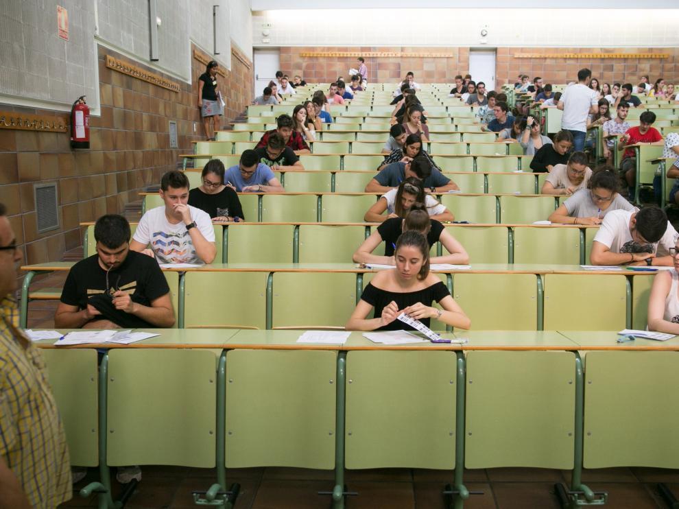 Imagen de la última selectividad celebrada en Zaragoza, el pasado mes de septiembre.