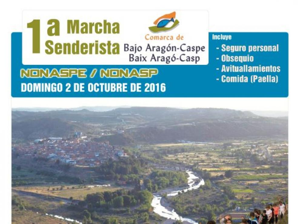 La marcha ofrece dos rutas alrededor de la localidad de Nonaspe.