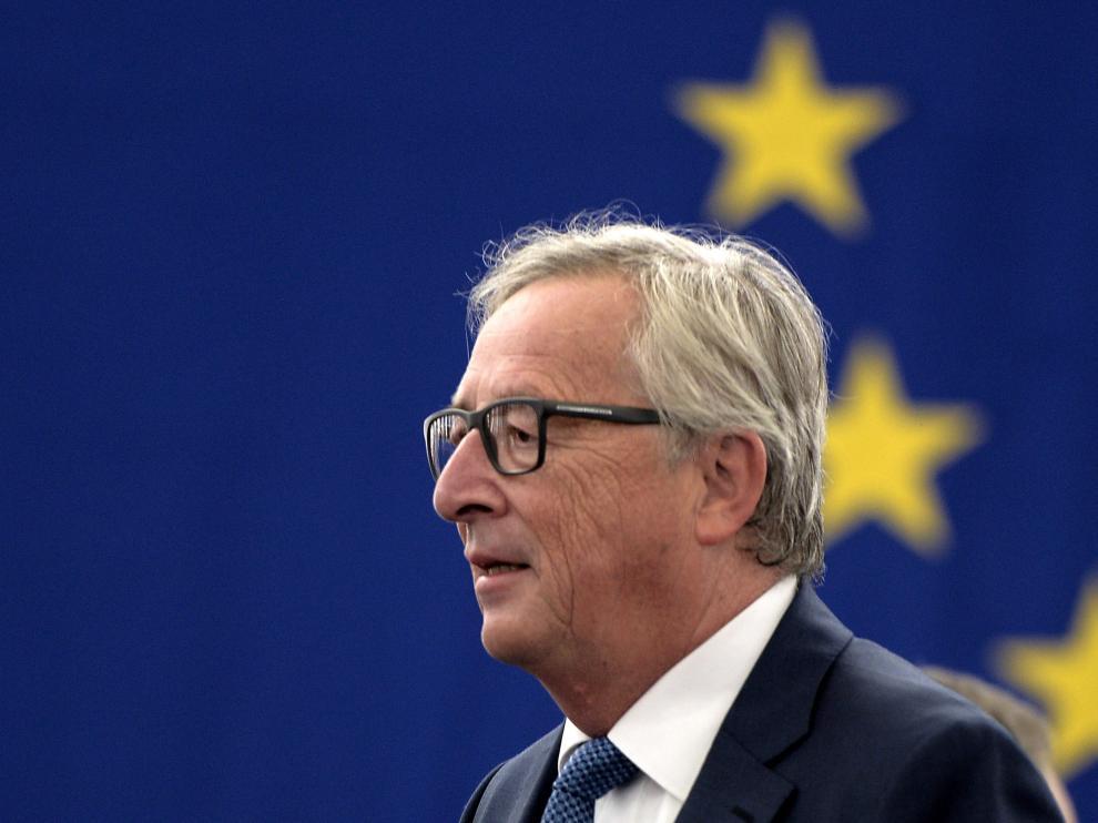 Juncker durante su discurso en el Parlamento Europeo de Estrasburgo.