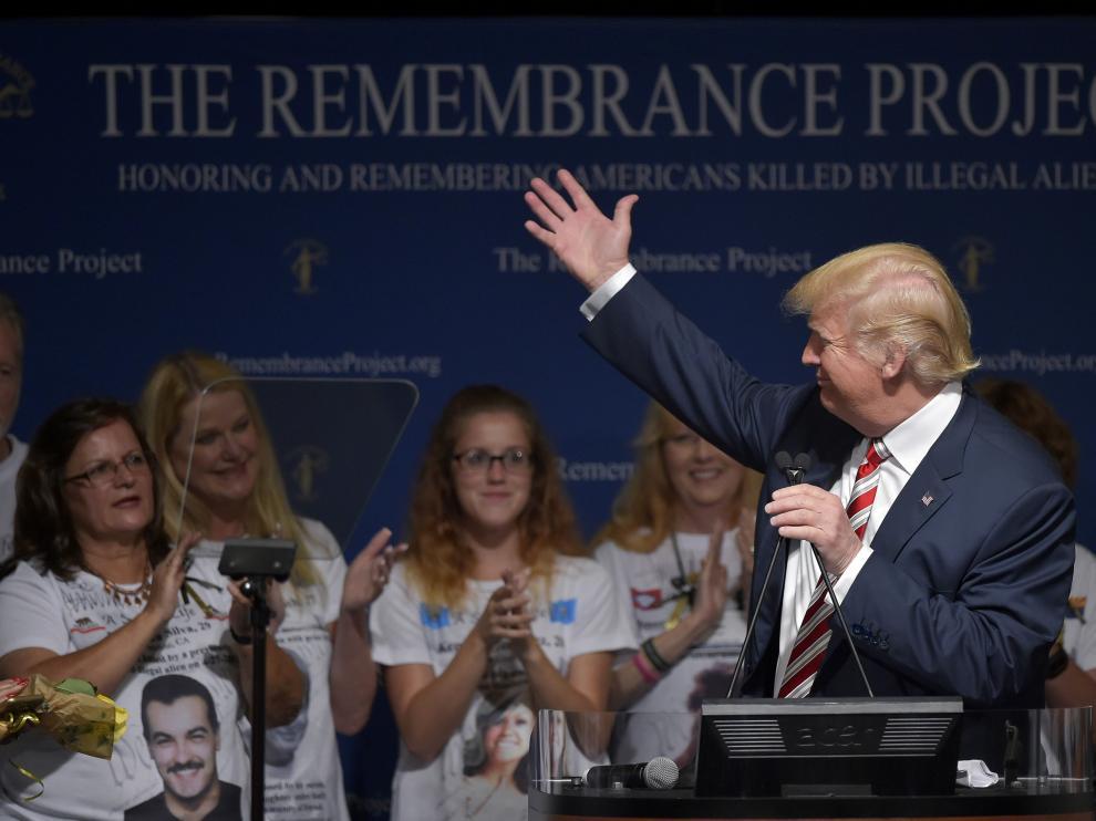 Trump ha mantenido este sábado su discurso habitual