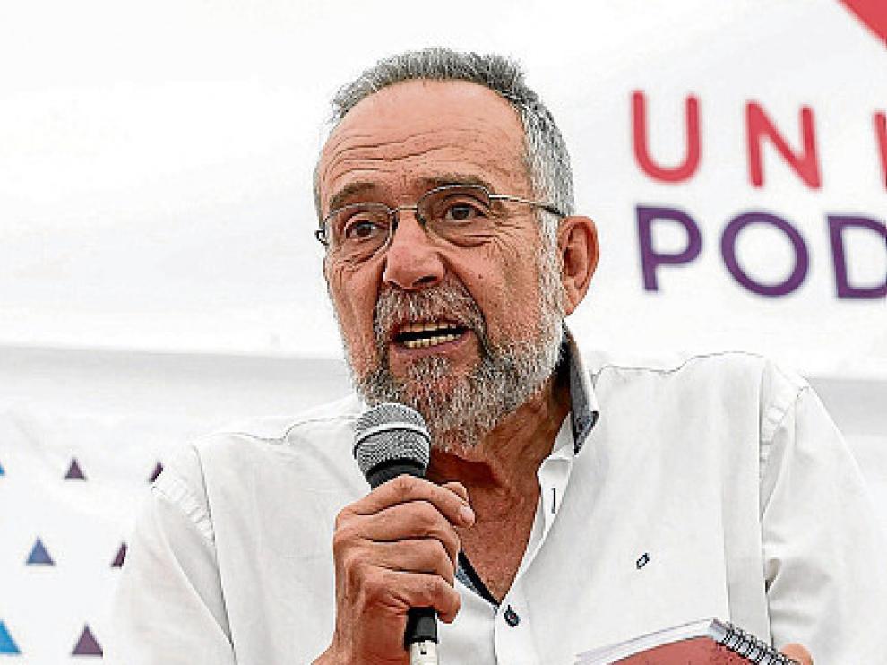 Pedro Arrojo, parlamentario aragonés de Podemos.