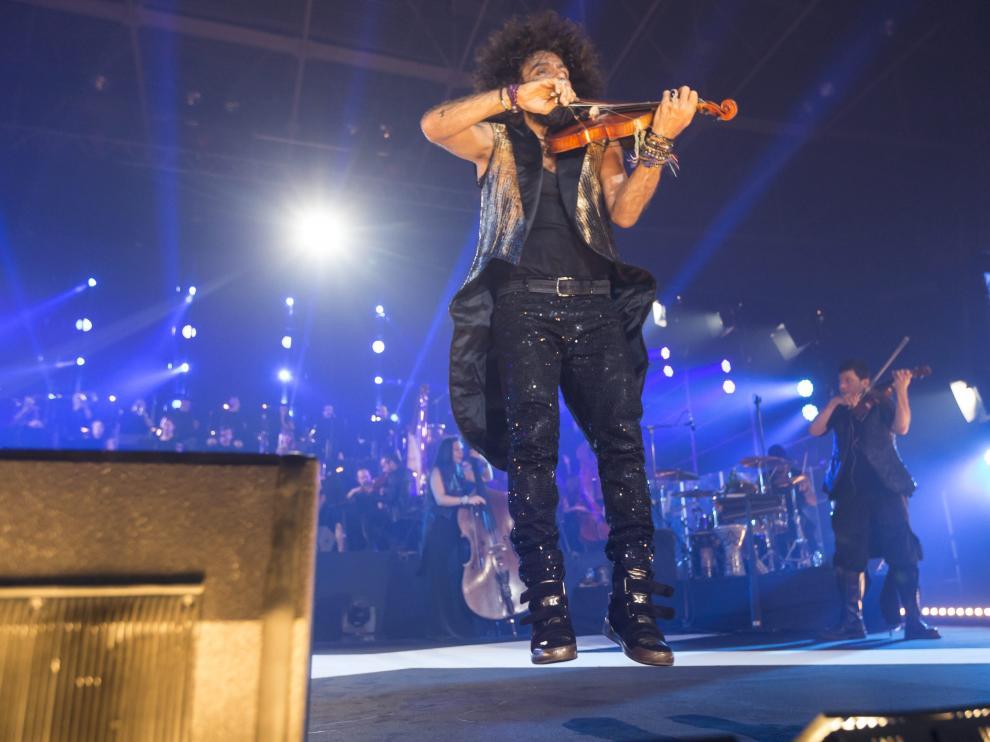 Imagen de archivo de un concierto de Ara Malikian en Zaragoza, que actúa este año en el Pabellón Príncipe Felipe el 12 de octubre.