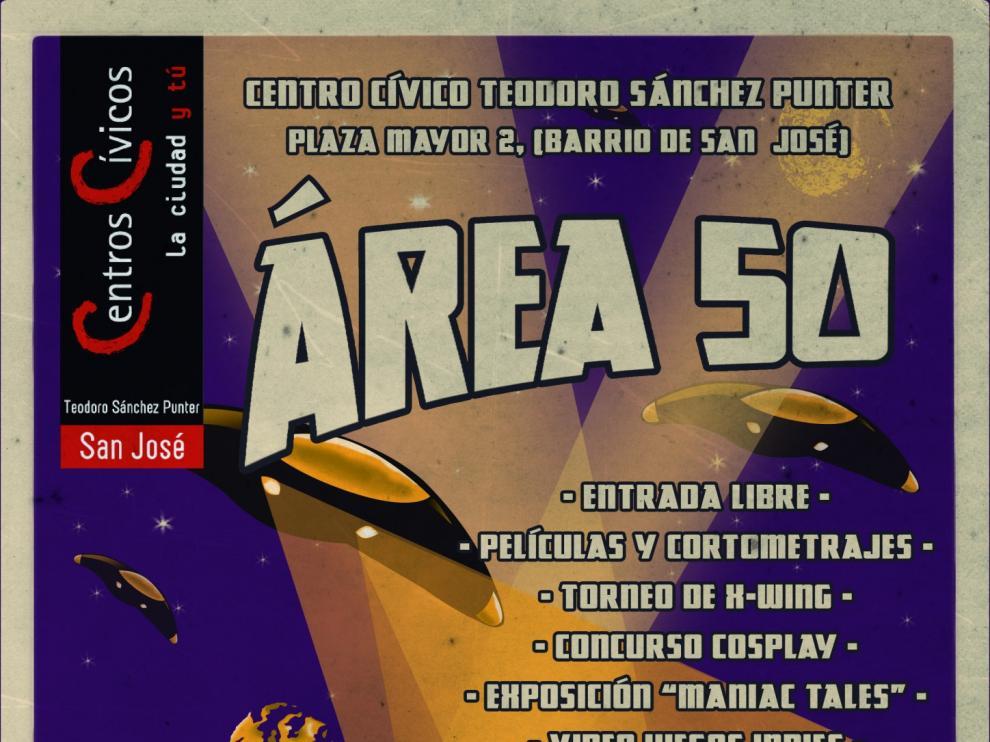 Cartel de 'Área 50',  la sexta edición de la Muestra de Cine Fantástico y de Terror de Zaragoza.