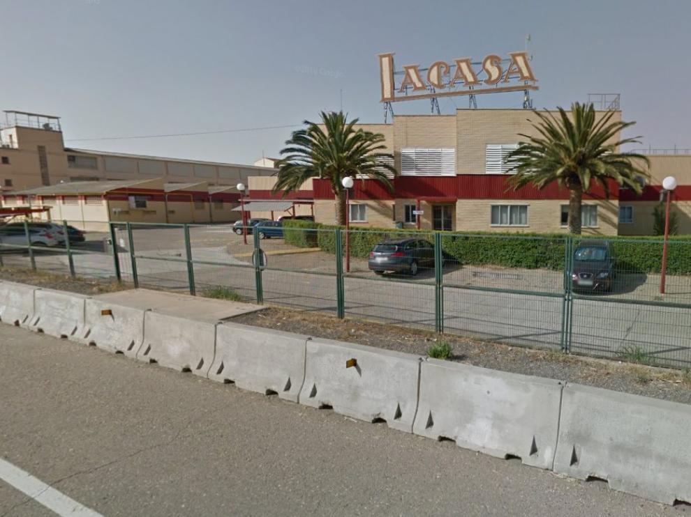 Fábrica de Chocolates Lacasa, ubicada en la carretera de Logroño