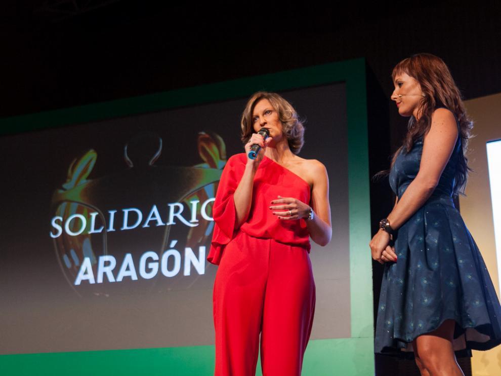 Ruth Quintana, presidenta de la ONCE en Aragón, dirigió unas palabras a los asistentes al inicio de la gala.
