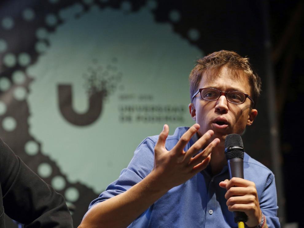 Íñigo Errejón durante la inauguración de la Universidad de verando de Podemos