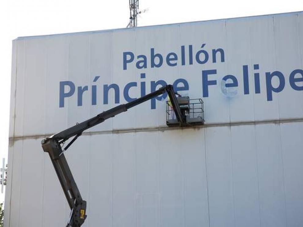 ZEC quiso cambiar el nombre del pabellón Príncipe Felipe por el del fallecido José Luis Abós