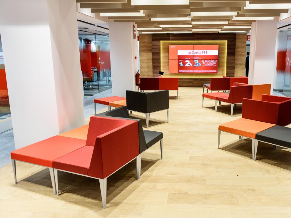 Una de las oficinas del Banco Santander.