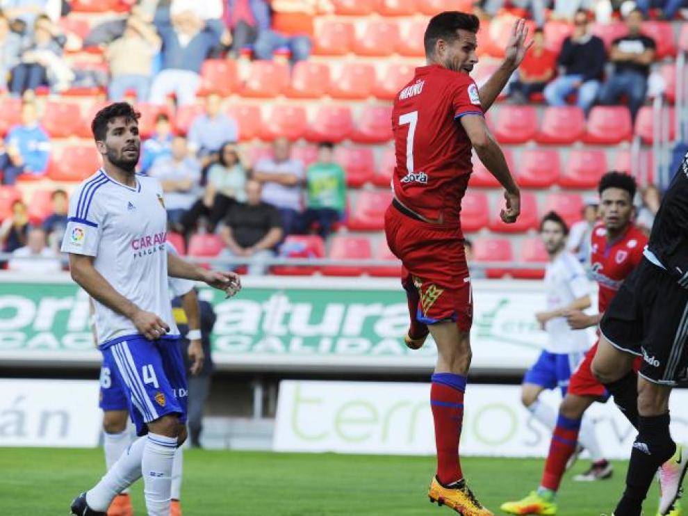 Penosa imagen y derrota del Real Zaragoza ante un flojo Numancia