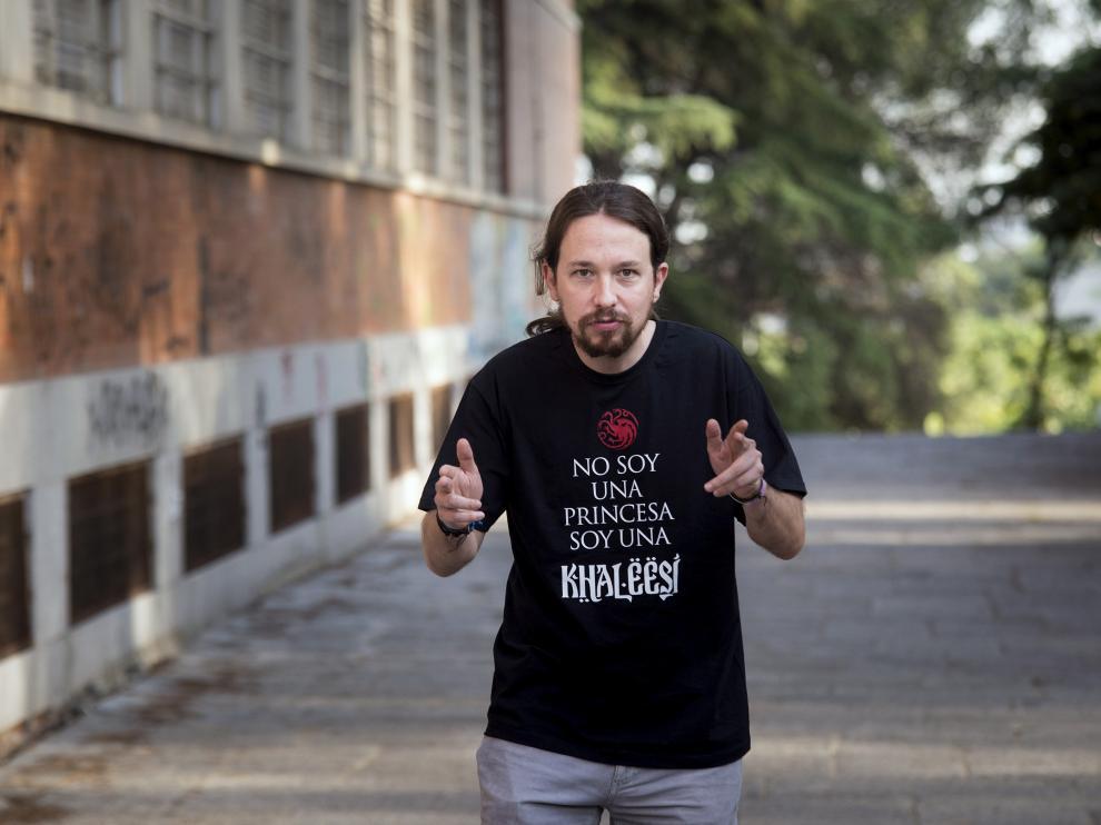 Pablo Iglesias, este domingo en Madrid.