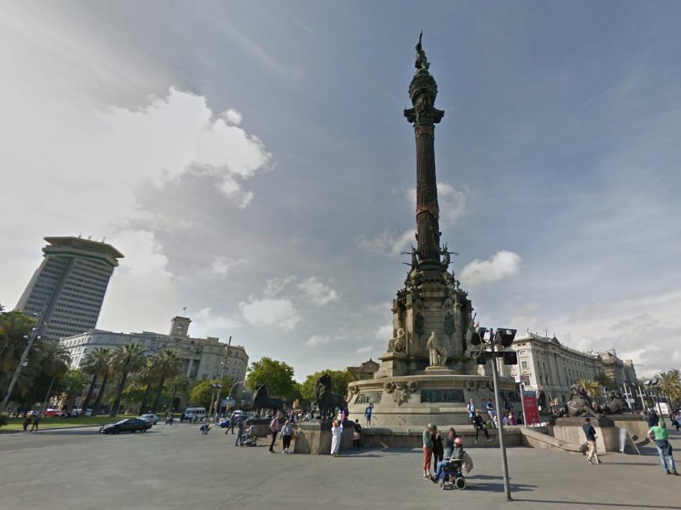 Estatua de Colón en Barcelona.