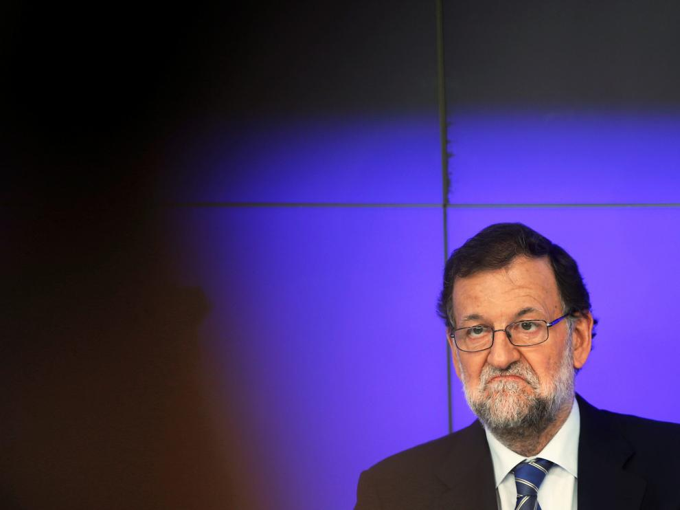 El líder del PP, Mariano Rajoy,