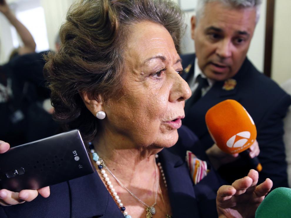 La senadora y exalcaldesa de Valencia, Rita Barberá.