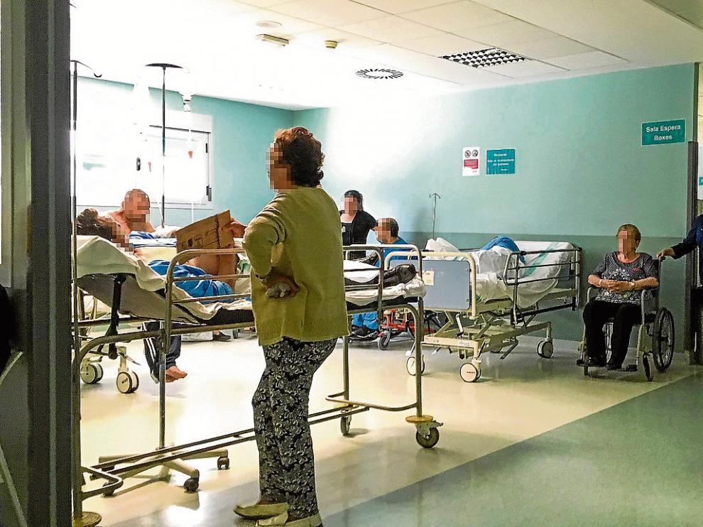 Saturación urgencias del Hospital Miguel Servet.
