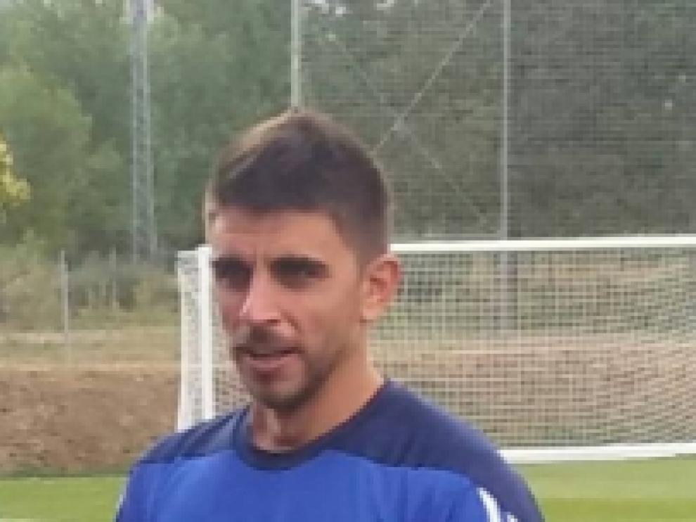 Xabi Irureta, en un entrenamiento.
