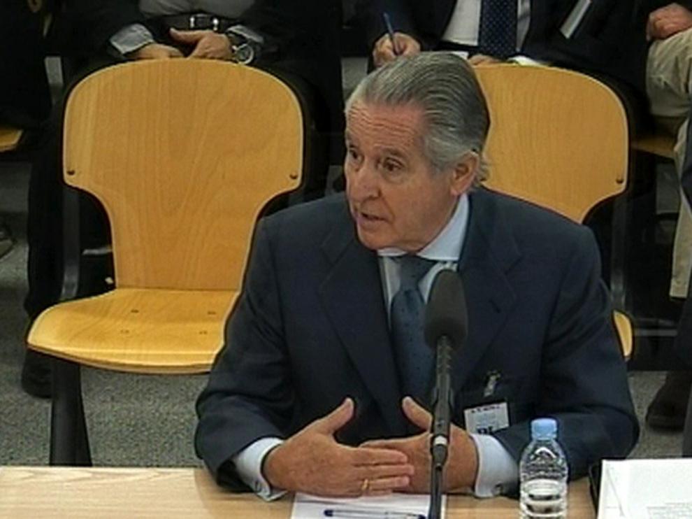 Miguel Ángel Blesa, durante su declaración en el juicio de las tarjetas 'black'.