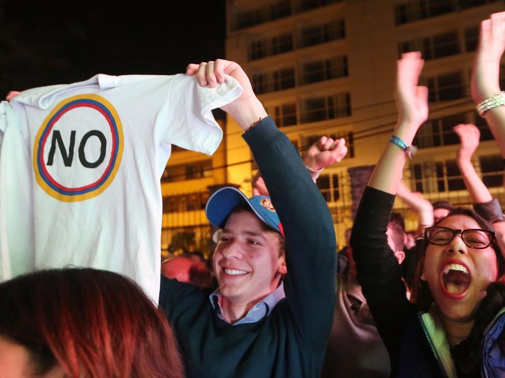 Partidarios del 'No' celebran los resultados