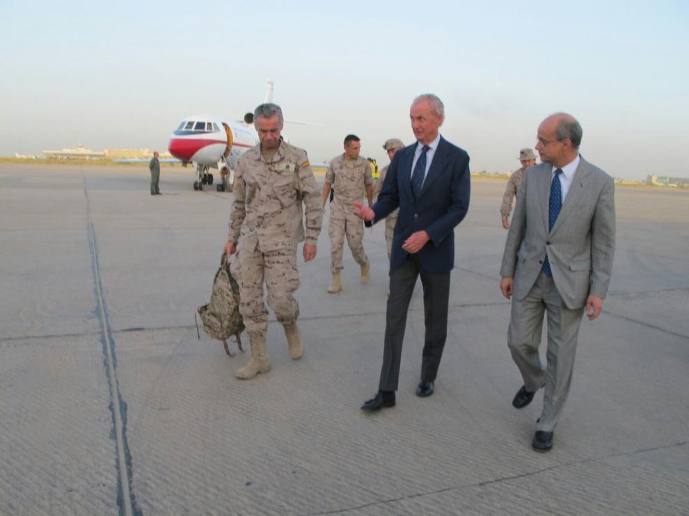 Morenés a su llegada a Iraq.
