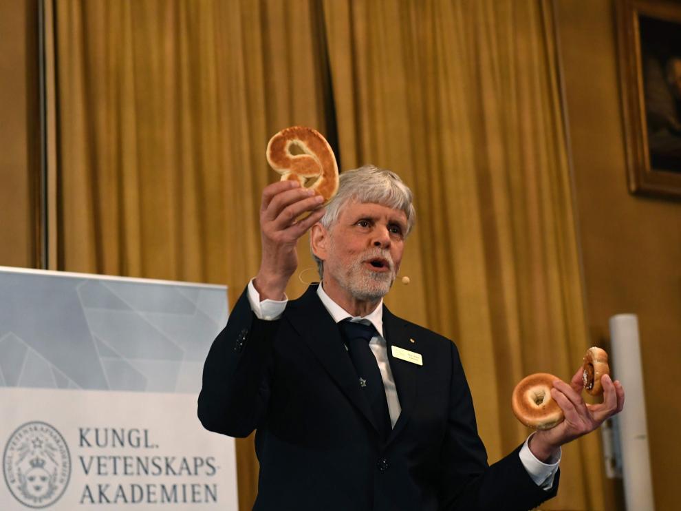 Rueda de prensa de la presentación del Nobel de Física