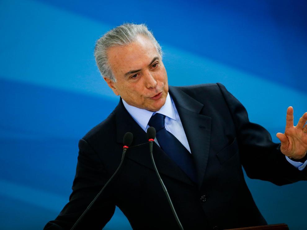 Temer, presidente de Brasil.