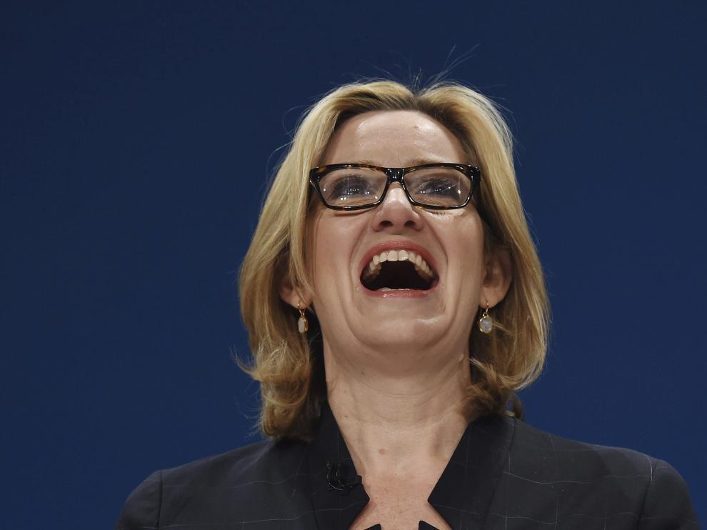 La ministra de Interior británica, Amber Rudd