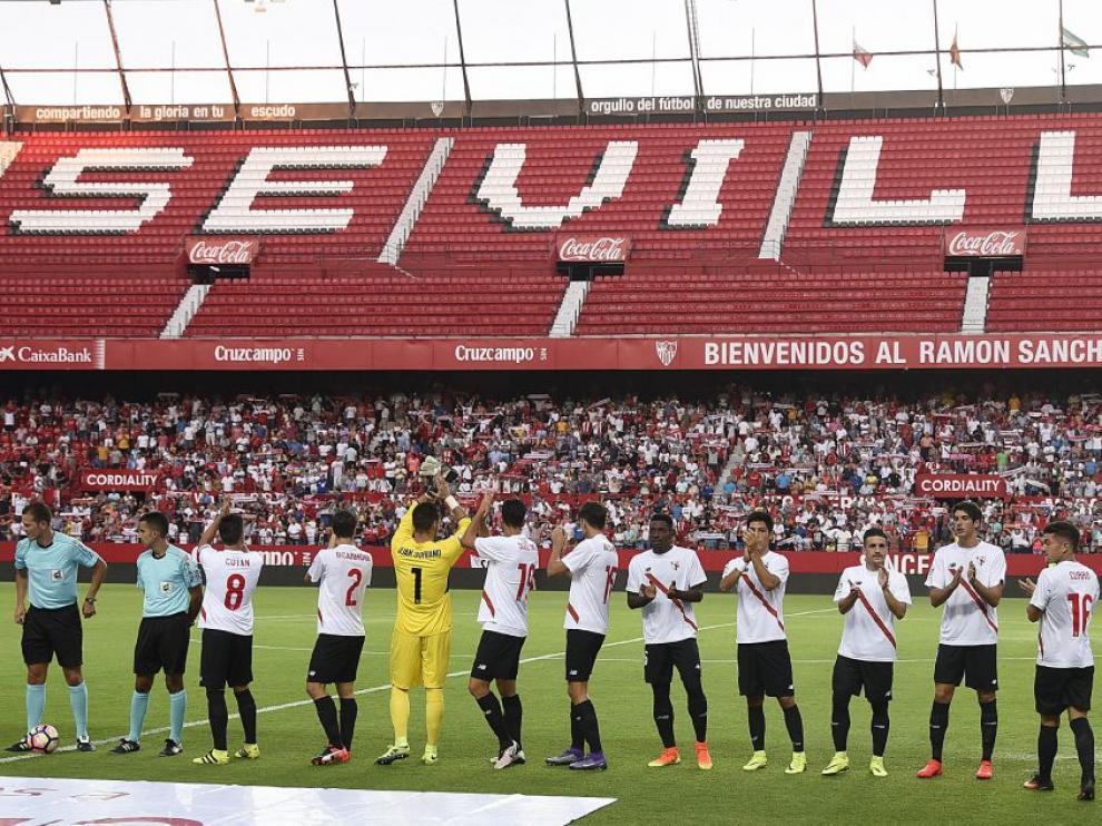 El Sánchez Pizjuán, durante un partido del Sevilla Atlético