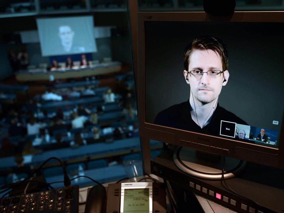 Edward Snowden, en una comparecencia televisiva el pasado junio.