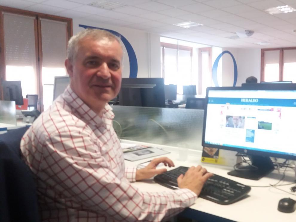 Javier García Campayo en la redacción de Heraldo.es