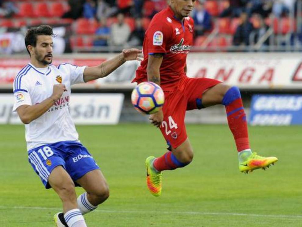 Juan Muñoz, en su estreno como titular en el Real Zaragoza, hace dos semanas en Soria.