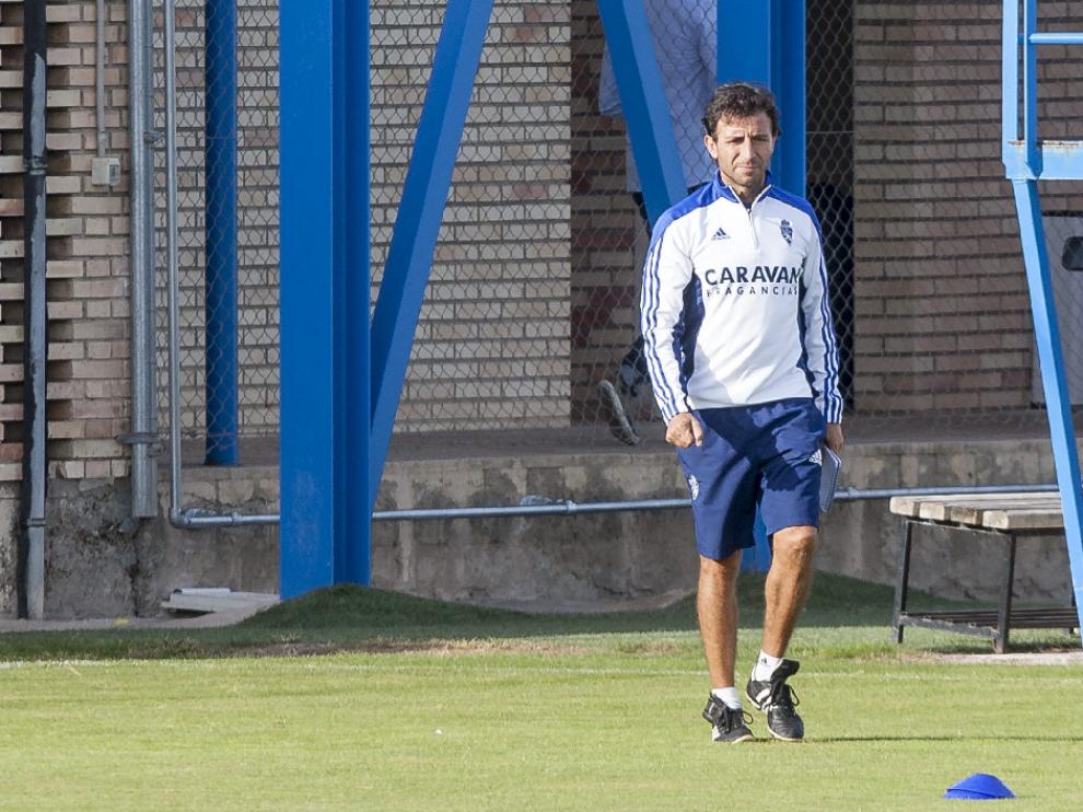 Luis Milla, en la Ciudad Deportiva.