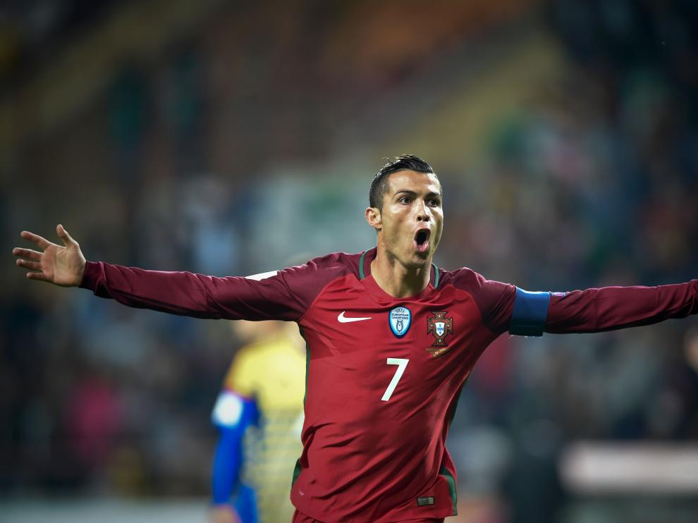 Ronaldo celebra uno de sus goles
