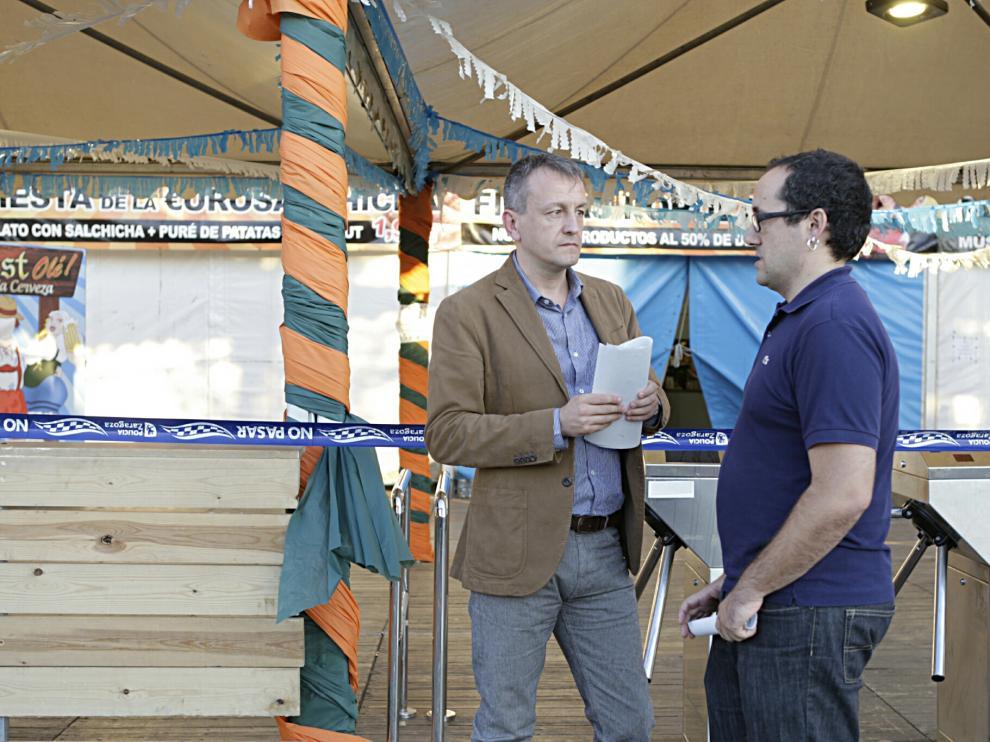 Rueda de prensa en la carpa de la Oktoberfest