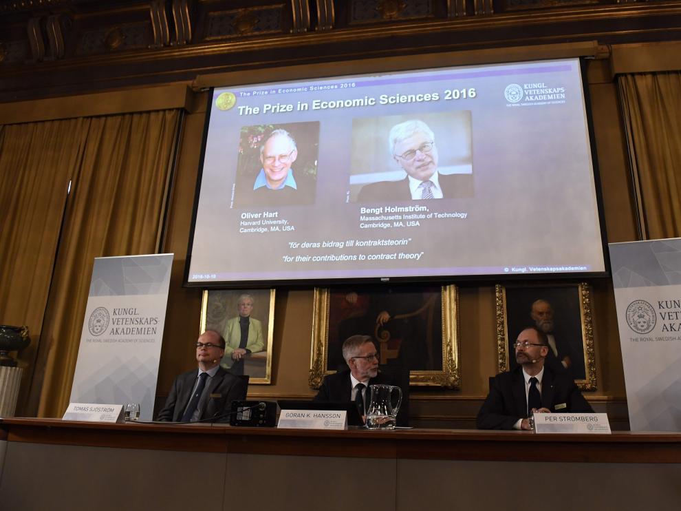 La Academia anuncia los ganadores del Nobel de Economía