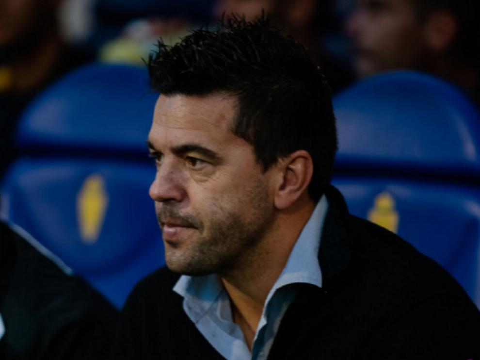 Cosmin Contra, hace 25 días en su visita a La Romareda, donde el Alcorcón perdió 2-0 ante el Real Zaragoza.