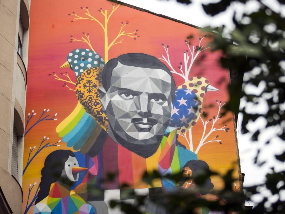Ángel Sanz-Briz, inmortalizado en un mural en Budapest