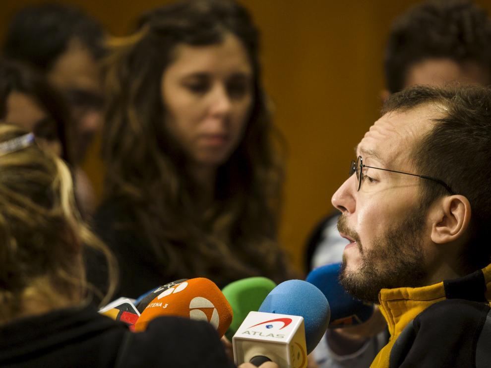 El secretario general de Podemos en Aragón, Pablo Echenique.