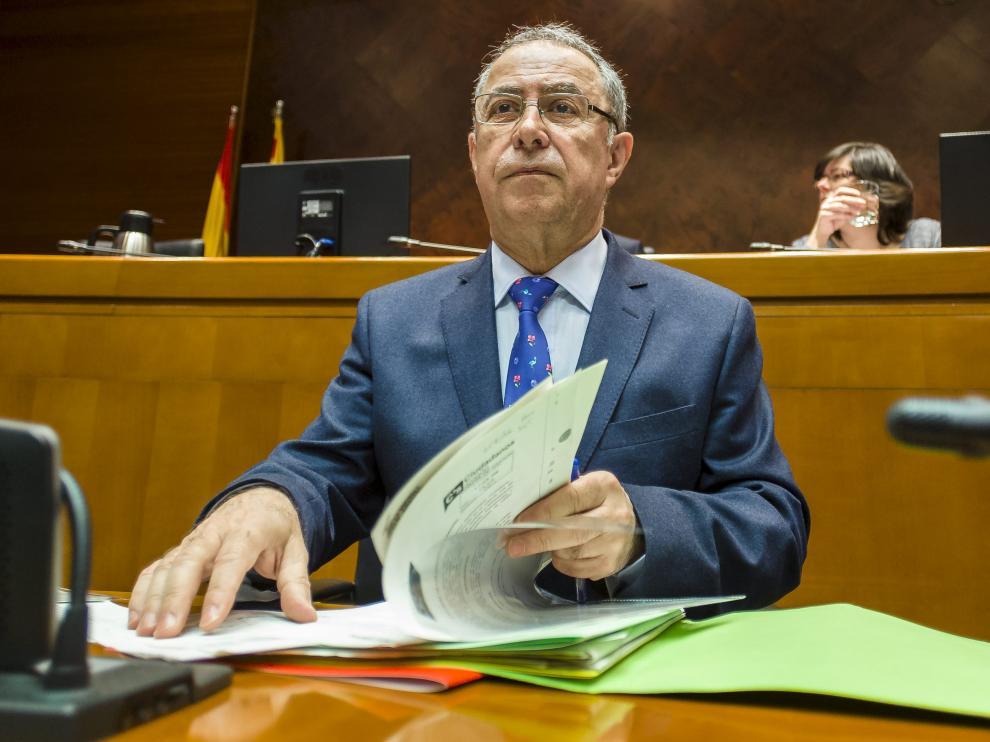 Fernando Gimeno, en una comparecencia ante la comisión de Hacienda de las Cortes