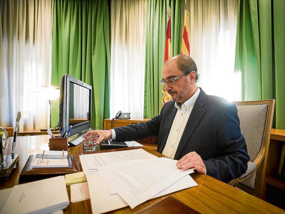 El presidente del Gobierno autonómico, Javier Lambán, en una imagen de archivo.
