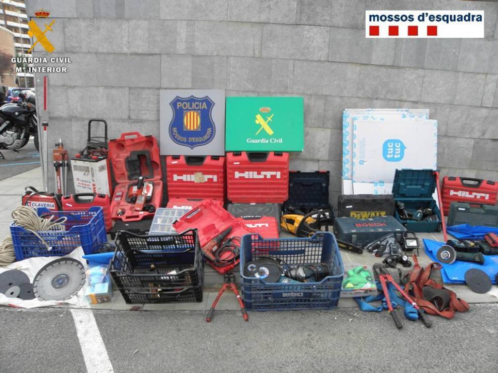 Desarticulado un grupo dedicado al robo de camiones y empresas en Zaragoa