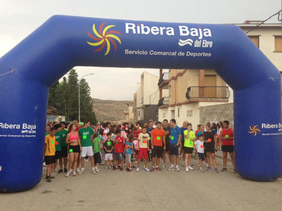 La primera edición de la carrera solidaria de Sástago se celebró en 2013. Ribera Baja del Ebro
