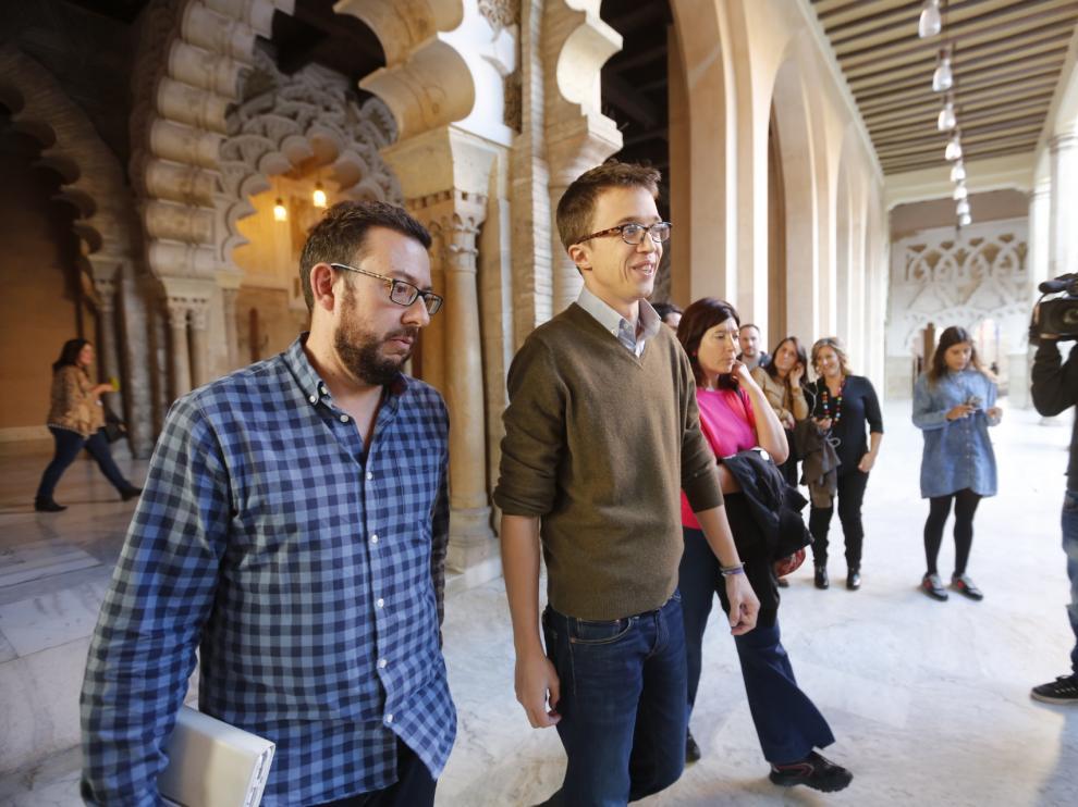 Errejón en las Cortes de Aragón