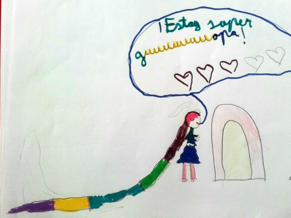 Dibujo de una niña transexual zaragozana.