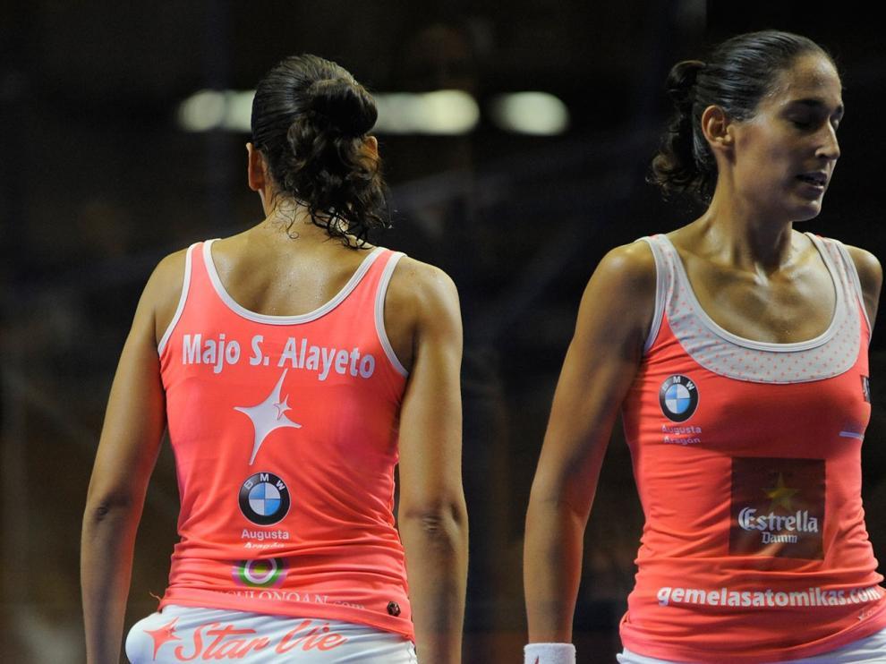 Las gemelas Sánchez Alayeto, durante un torneo