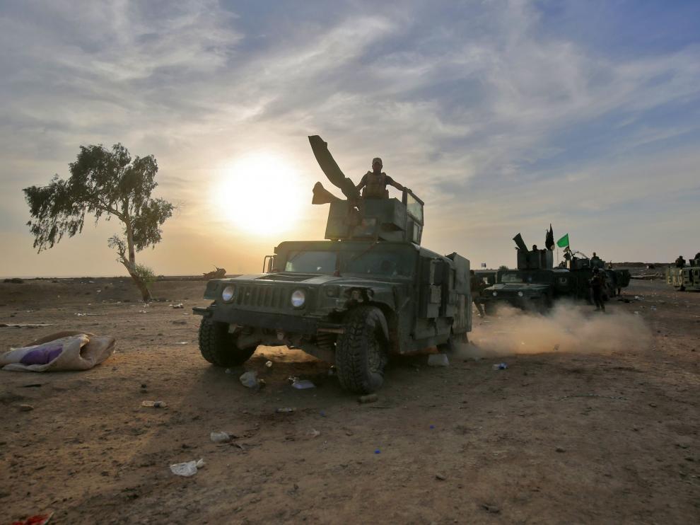 Fuerzas iraquíes, en su camino hacia Mosul.