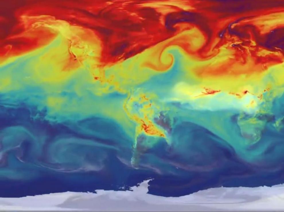 Mapa del flujo de dióxido de carbono
